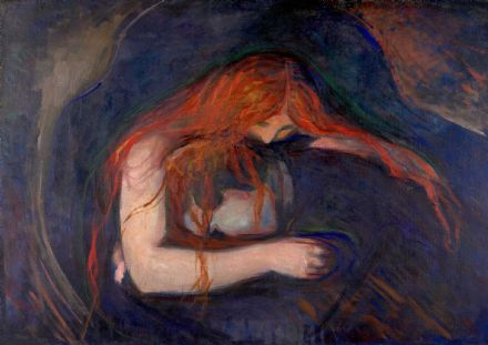 Munch, Edvard: Vampire. Fine Art Print/Poster. Sizes: A4/A3/A2/A1 (0079)